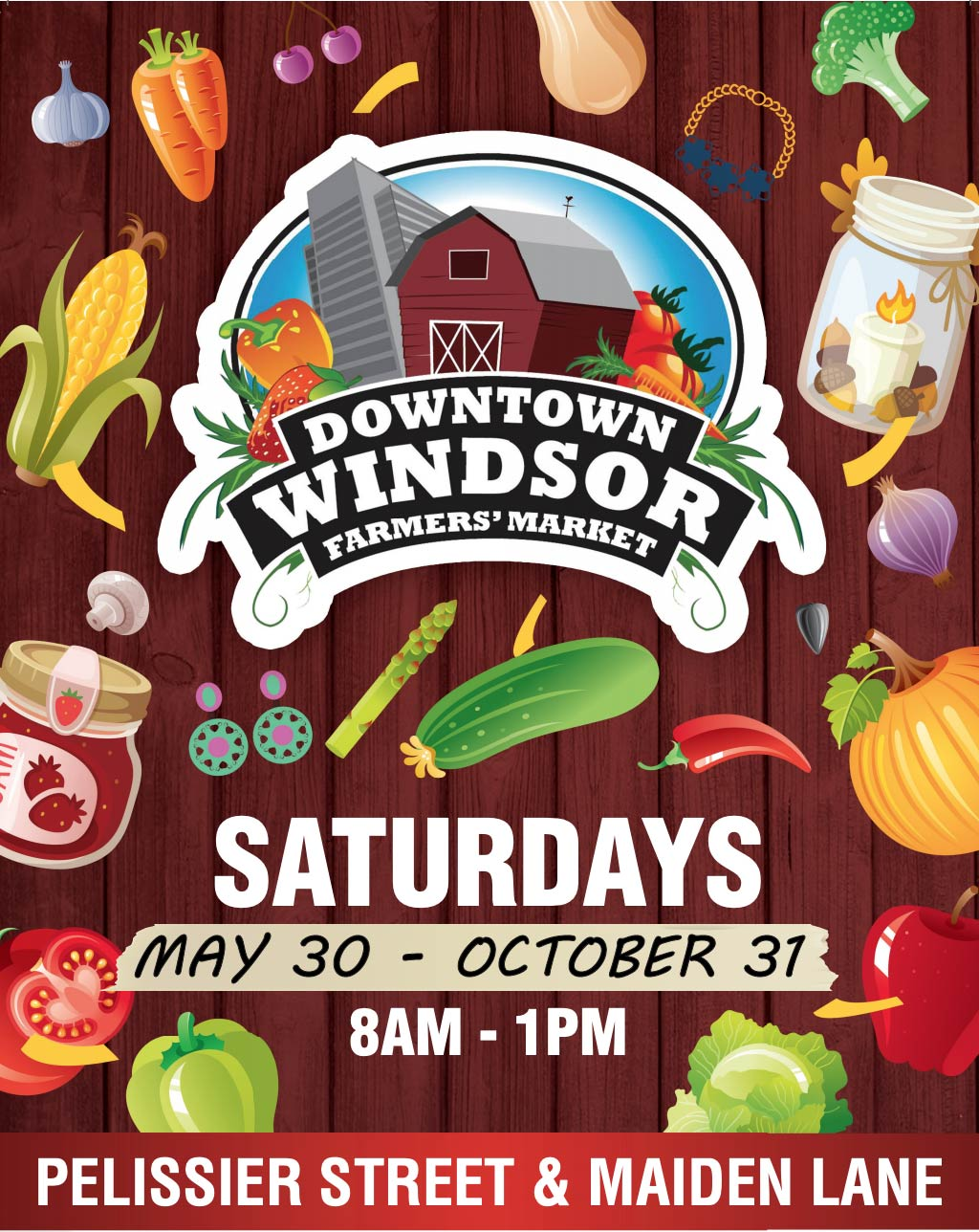 Downtown Windsor Farmers Market poster