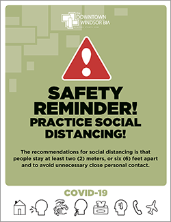 Poster: Safety Reminder! Practice Social Distancing!