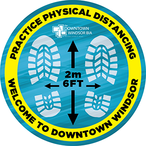 Physical Distancing floor decal