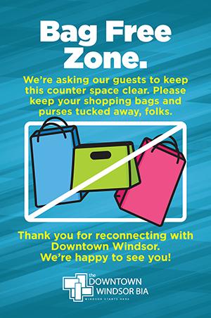 Bag Free Zone poster