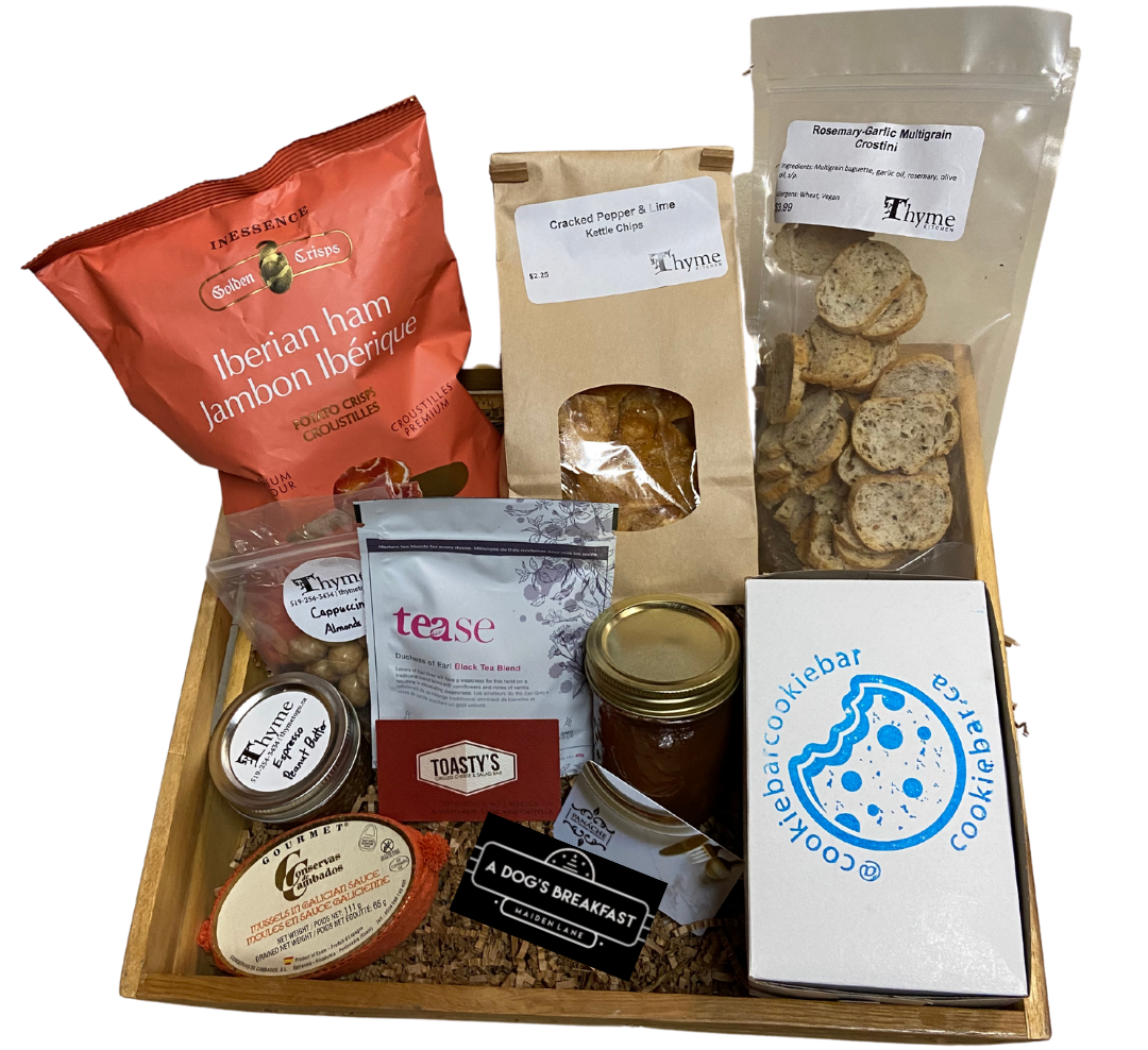 """Local Provisions """"All Bundled Up"""" gift basket"""