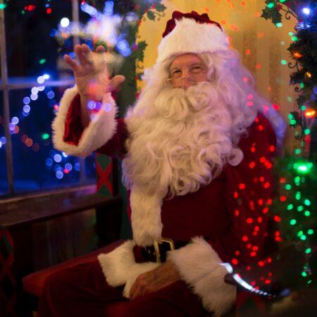 Santa waiving