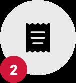 Step 2, receipt icon