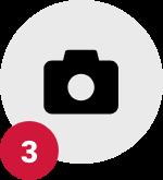 Step 3, camera icon