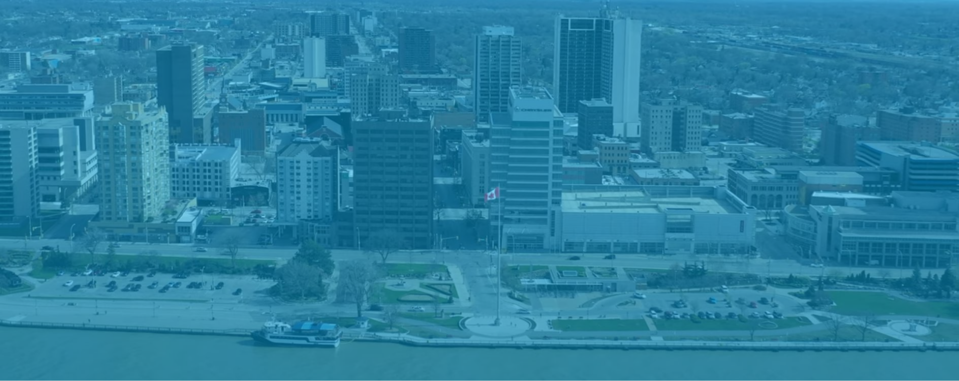 Ariel view of downtown Windsor